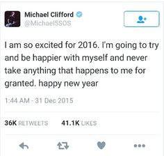 Same :)>>>I'm do happy for Michael this gives me hope fur a new year n find new happiness not a new me