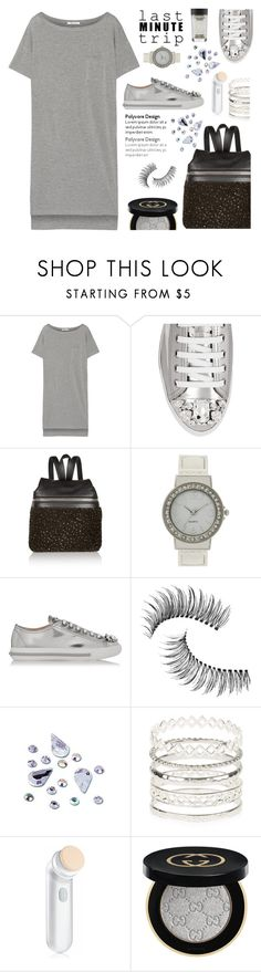 """Last Minute Trip TFS 9-4-16"" by annbaker ❤ liked on Polyvore featuring T By Alexander Wang, Miu Miu, Kara, Trish McEvoy, Accessorize, Clinique, Gucci, MAC Cosmetics and lastminutetrip"