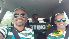 صورة : مشجعو سبورتنج لشبونة في طريقهم إلى مدريد