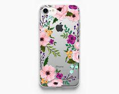 iPhone 7 caso Floral iPhone 6s caso claro iPhone 6 caso flores iPhone 6S caja oro rosa iPhone 6 Vintage iPhone 7 Plus caja transparente