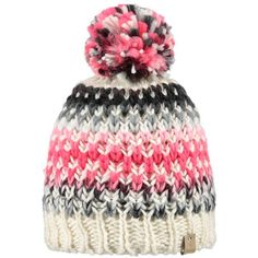 Barts Nicole Beanie, One Size, Cream/Multi (44 CAD) ❤ liked on Polyvore featuring accessories, hats, cream beanie hat, acrylic beanie, cream beanie, bobble hat and cream hat
