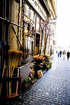 Flower shop in Zurich, Switzerland