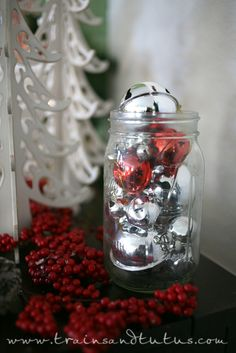 Jingle Bell Jars by Laura at Trains and Tutus