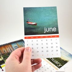 These post card sized monthly calendar free printables look cute stacked or hanging by wooden pegs!