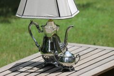 ~still regret not buying a beautiful little vintage silver sugar bowl lamp I saw in Galveston once...