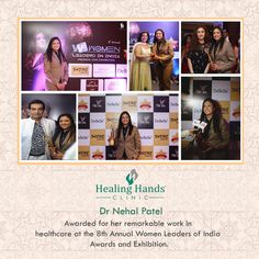 Dr Nehal Patel, our female Proctologist from Navi Mumbai being felicitated at the 8th Annual Women Leaders of India - Awards and Exhibition. She has played a great role in spreading awareness and encouraging women to speak up about their health issues.  #womenshealth #speakup #girlpower #HealingHandsCares