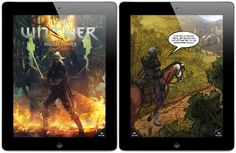 The Witcher - interactive comic book for iPhone and iPad / Wiedźmin - interaktywny komiks dla iPhone'a i iPada Game Calls, The Witcher, Book Series, Comic Books, App, Iphone, Digital, Study, Painting