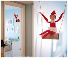 Swinger | 33 Genius Elf On The Shelf Ideas