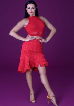 DSI Latin Fringe Skirt 3755 | Dancesport Fashion @ DanceShopper.com