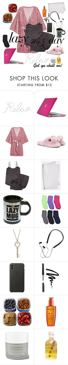 """""""Lazy,love"""" by acious ❤ liked on Polyvore featuring PBteen, Speck, UGG, Law of Sleep, Polaroid, Apple, Bobbi Brown Cosmetics, Fit & Fresh, Kérastase and Omorovicza"""