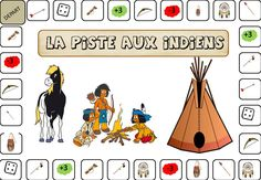 jeu la piste aux indiens pour maternels : variante du jeu de l'oie. Anniversaire Cow-boy, Ep Album, Activities For Boys, Inca, School Themes, Math Games, My Children, Continents, Cowboys