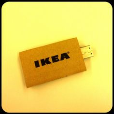 Paperboard USB pen from Ikea with press stuff for journalists