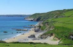 Hemmick Beach, the Roseland, Cornwall.