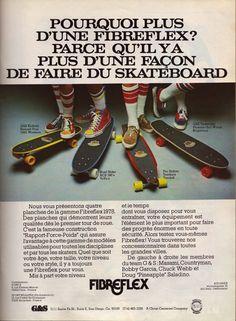 Gordon & Smith Slalom Fibreflex Vintage French Skateboard Ad