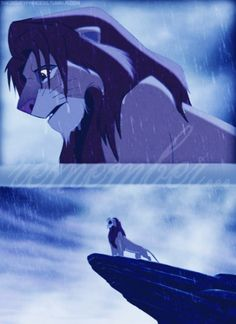 Lion King - This is my favorite part of the whole movie it always gives me chills with the music and the rain *sigh*