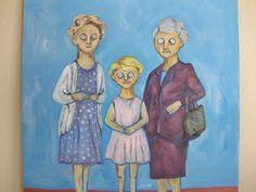 Three Generations  Original Oil Painting on by kellygormanartwork, $80.00