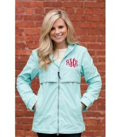monogrammed rain jacket on - if i still lived in seattle