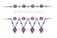 Free pattern for beaded necklace Tenderness   U need: seed beads 11/0 pearl beads 4 mm pearl beads 6 mm     Click to get book about Beading