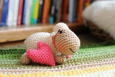 This sweet little sheep crochets up quickly for an easy gift or decoration.