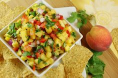 The Kitchen is My Playground: Peach-Pineapple Salsa {& co-hosting 'It's a Keeper Thursday'}