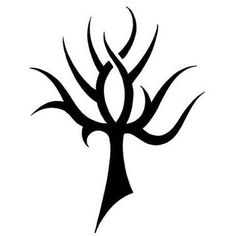 Ankh Resembles a Tribal Tree Tattoo Design - TattooWoo.