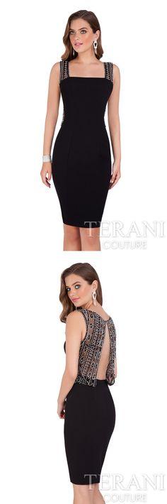 1125833d60 Terani Couture - 2016 Cocktail Dress Style  1611C0031  cocktaildress   shortdress  sleevelessdress