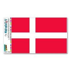 Denmark Flag MAG-Neato'stm Automotive Car Refrigerator Locker Vinyl Magnet