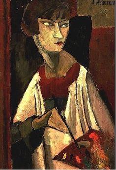 Jeanne-Hebuterne-Autoportrait - Jeanne Hébuterne - Wikipedia