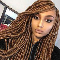 18inch Faux Locs Crochet Hair Synthetic Crochet Braids Hair Extensions 15 strands/pack #HairBraids101