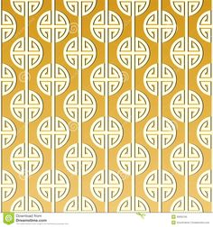 Chinese Type Golden Pattern/ Illustration Royalty Free Stock Photo ...
