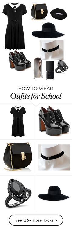 """""""Coven"""" by madam-wednesday-addams on Polyvore featuring Marc Jacobs, Killstar, Chloé, Eugenia Kim and NARS Cosmetics"""