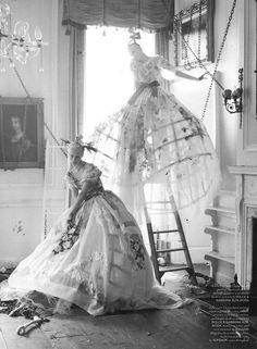 Edie Campbell & Karen Elson In 'Atlas the Lion' By Tim Walker For LOVE Magazine Fall/Winter2013 - 3 Sensual Fashion Editorials | Art Exhibits - Anne of Carversville Women's News