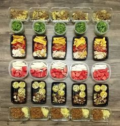 Talk about consistent and clean! This sleek meal prep spread is... Talk about consistent and clean! This sleek meal prep spread is from @sangria_on_the_rocks ::::::::::::::::::::::::::::::::::::::::: Week 3 (days 15-19) of #Whole30. Were halfway there! Meal 1: egg white muffins and roasted potato Meal 2: Whole30 shepherds pie with arugula and balsamic vinegar Meal 3: roasted chicken sautéed bell pepper and onion and fried plantains Meal 4: Ground beef sloppy joe mashed sweet potato jicama an