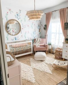 Welcome our baby girls whimsical nursery! When we found out we were pregnant I r. - Babyzimmer - Welcome our baby girls whimsical nursery! When we found out we were pregnant I really wanted to wait - Baby Room Boy, Baby Room Decor, Baby Girls, Sweet Girls, Baby Rooms, Babies Nursery, Baby Room Ideas For Girls, Baby Girl Bedroom Ideas, Nursery Room Ideas