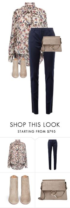 """Untitled #13623"" by alexsrogers ❤ liked on Polyvore featuring See by Chloé, Yves Saint Laurent, Aquazzura and Chloé"
