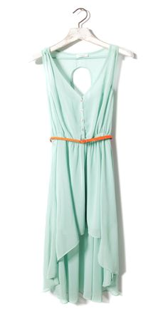 Pull mint hem tail dress by lori Pull & Bear, Mode Style, Style Me, Cute Dresses, Casual Dresses, Short Dresses, Mint Dress, Green Dress, Look At You