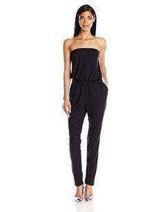 de2dbca79189 Susana Monaco Womens Light Supplex Tube 32 Inch Jumpsuit Black Large    For  more information