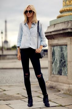 """J Brand 8227 Mid Rise Ankle Skinny Jeans on """"Tuula"""" - http://denimology.com/2014/11/j-brand-8227-mid-rise-ankle-skinny-jeans"""