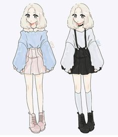 New oc! Her name is Jieun (지은)🌿 still not sure if she should have blue or… New oc! Her name is Jieun (지은)🌿 still not sure if she should have blue or light pink eyes tho. ☁️ Rly liked this hairstyle on my other drawing so I made an oc with it// Drawing Anime Clothes, Anime Girl Drawings, Dress Drawing, Kawaii Drawings, Cute Drawings, Outfit Drawings, Pink Drawing, Manga Clothes, Oc Drawings
