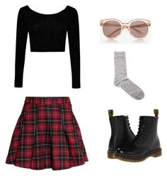 """""""Untitled #1798"""" by girlinlondon ❤ liked on Polyvore featuring Boohoo, H&M, Étoile Isabel Marant, Dr. Martens and Express"""