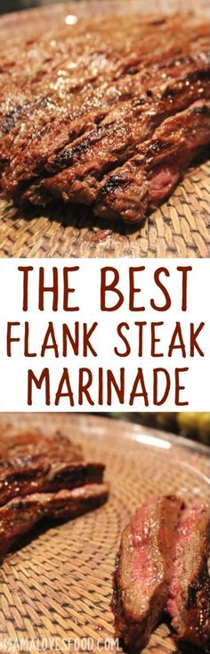 The BEST Flank Steak Marinade.I love to grill in the summer and new marinated steak grilling recipes are the best! The BEST Flank Steak Marinade.I love to grill in the summer and new marinated steak grilling recipes are the best! Steak Marinade Recipes, Flank Steak Recipes, Marinated Steak, Grilling Recipes, Meat Recipes, Cooking Recipes, Recipes Dinner, Healthy Grilling, Meat Marinade