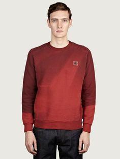 Stone Island Men's' Red Light Print Sweatshirt