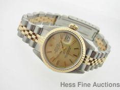 Fine Quality Rolex Datejust 18k Gold SS Ladies 69173