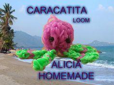 Cum se face o  CARACATITA din elastice loom bands (IGLITA)TUTORIAL (RO)-... Loom Bands, Rubber Bands, Homemade, Face, Diy, Home Made, Bricolage, The Face, Do It Yourself