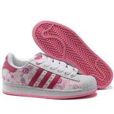 ADIDAS pink floral original trainers sneakers 6 Size 6 women\u0027s in gently  used condition. Adidas