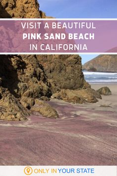Add this beautiful pink sand beach near Big Sur in California to your travel bucket list. The sand gets its unique hue from the surrounding garnet cliffs - that's right, it's crushed gemstones! Ocean Photography, Photography Tips, California Travel, Northern California, Pink Sand Beach, West Coast Road Trip, Famous Beaches, Hidden Beach, Exotic Places