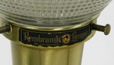 Pair Rembrandt Green Pottery Table Lamps at 1stdibs
