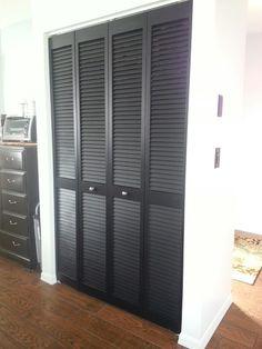 Black pantry doors