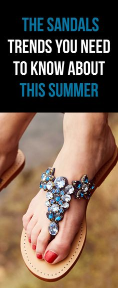 d175add87e9 Jeweled   Embellished Flat Leather Women s Sandals