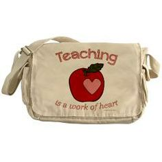 Teaching is a work of heart Messenger Bag